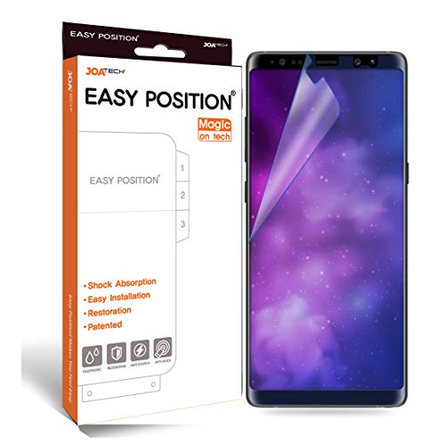 [Patented] Galaxy Note 8 Screen Protector Film (2-Pack) Perfect Touch & Sensitivity Anti-Shock Anti-Scratch Self-Healing Easy Install [Easy Position] [Magic on Tech] [Clear,Full Coverage]