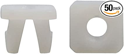 100 Pcs Yellow Plastic Square Car 11mm Hole Rivets Fastener Panel Clips