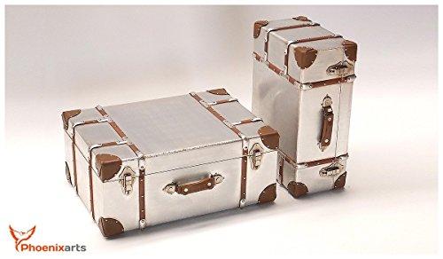 Koffer Deko amazon de phoenixarts 2er set alu deko koffer industrie design