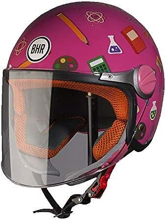 YS BHR 94119 Casco Bimbo Modello 713 Scuola Fucsia