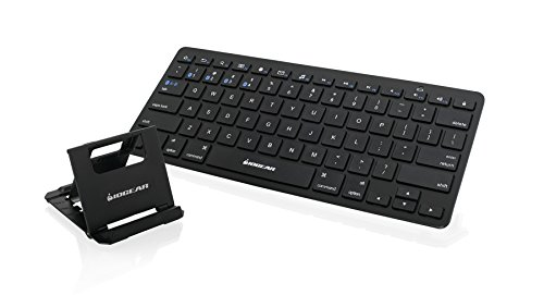 IOGEAR Slim Multi-Device Bluetooth Keyboard with Adjustable Stand for Smartphones and Tablets by IOGEAR