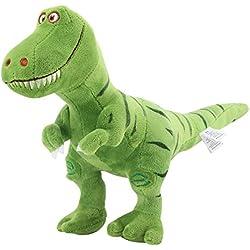 Zooawa Bed Time Stuffed Animal Toys, Cute Soft Plush T-Rex Tyrannosaurus Dinosaur Figure - Green