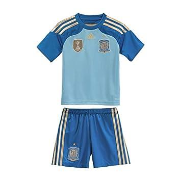adidas Conjunto Jr Portero Selección Española 2014 Azul: Amazon.es: Deportes y aire libre