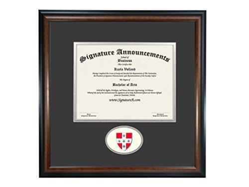 - Signature Announcements Wesleyan-University Undergraduate, Sculpted Foil Seal Graduation Diploma Frame 16