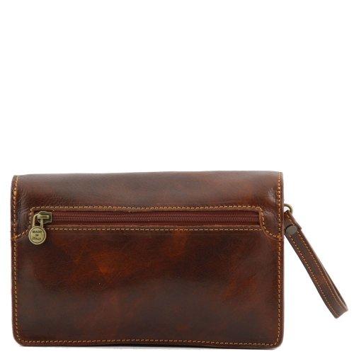 Borsa marrone organizer portatutto marrone Tuscany Leather ZP6wqxY