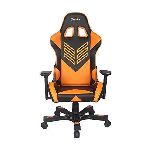 """Crank Series """"Onylight Edition"""" World's Best Gaming Chair (Black/Orange) Racing Bucket Seat Gaming Chairs Computer Chair eSports Chair Executive Office Chair w/Lumbar Support Pillows"""