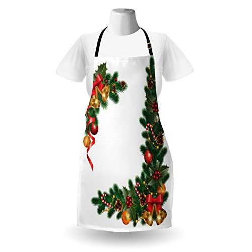 Ambesonne Christmas Apron - Ornaments