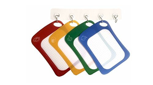 Cutting Board / Mat Set Antibacterial & Dishwasher Safe, Set of 4 Color Coded Cutting Boards / Flexible Cutting Mats for All Your Cutting Needs by Zone – 365