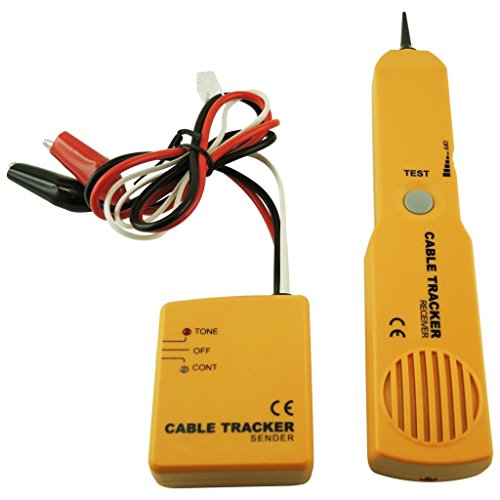 Network Phone Telephone Line Cable Tracker Wire Tracer Tester Sender and Reciever Kit Tone ContinuityTesting Polarity of Phone Lines,Tracing a Wire, Wires Buried Behind Drywall