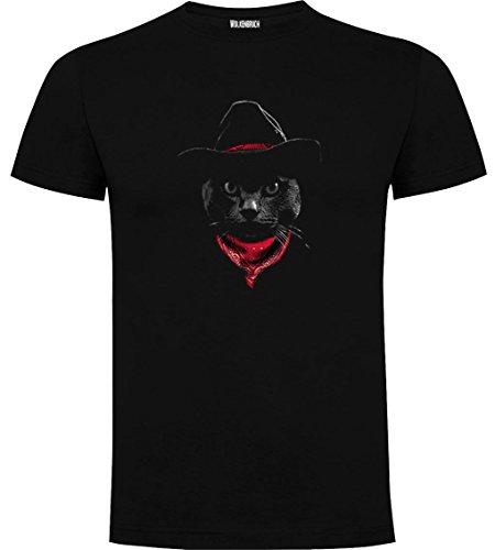 5b61445636c84 Wolkenbruch® Herren T-Shirt Cowboy Katze Cat