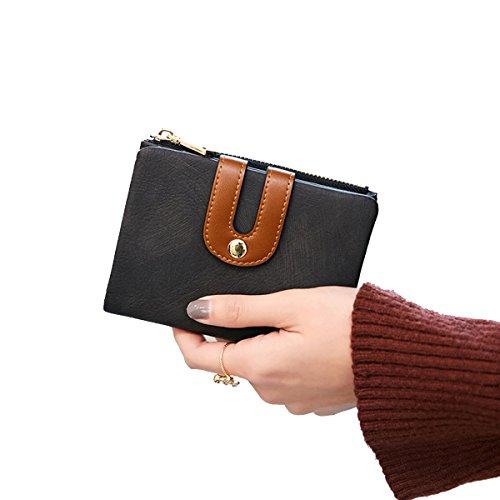 Wallet for Women RFID Bifold Leather Clutch Purse & Zipper Pocket for Credit Card Holder Organizer