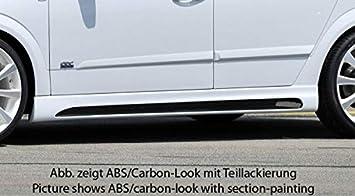 Rieger Potenciador de Lado Negro Mate para Opel Astra H: 03.04 de