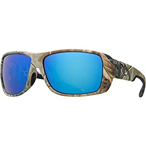 Costa Double Haul Realtree Polarized Sunglasses - Costa 400 Glass Lens Realtree AP Camo/Blue Mirror, One Size