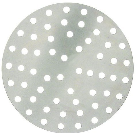 Winco APZP-18P, 18-Inch Aluminum Perforated Pizza Disk with 275 Holes, Pizza (Aluminum Disk Bottom)