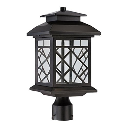 Designers Fountain LED22336-ORB LED Post Lantern, Oil Rubbed Bronze Finish with Clear Shade by Designers Fountain