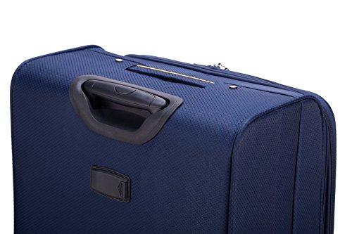 HAUPTSTADTKOFFER® 55 Liter (ca. 60 x 40 x 22 cm) Weichgepäck · Reisekoffer · MITTE LIGHT · BLAU