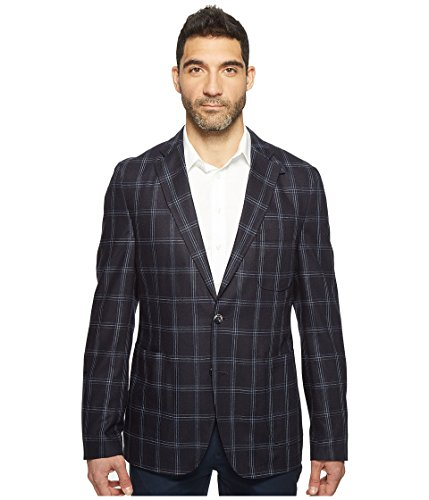 Kroon Men's White 100% Silk Italian Window Pane Fabric, N...