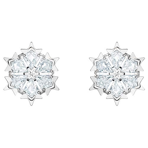 - Swarovski Crystal Authentic Magic Rhodium Plated White Pierced Earrings