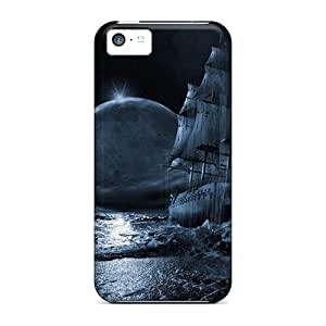 Luoxunmobile333 Heg16849ZuJS Cases For Iphone 5c With Nice Blue Moon Rising 3d And Cg Appearance