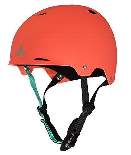 Liner Helmet Sweatsaver T8 (Triple Eight Gotham Water Helmet for Wakeboard and Waterskiing, Neon Tangerine Matte, Large)