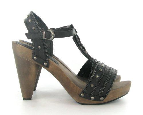 Spot On - Sandalias de vestir para mujer negro negro