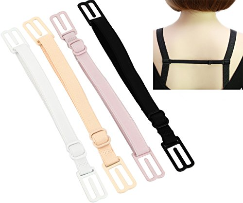 CAKYE Women's 4Pcs Non-slip Elastic Bra Strap Holder (4 Color)