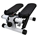 Yanvan Office Household Mute Stepper,Hydraulic Stepper Aerobic Twister with Adjustable Resistance Bands,Multi-Function Pedal Indoor Cardio Training Fitness Exercise Machine Equipment Treadmill
