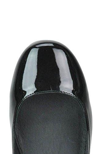 Steve Madden Femme MCGLCAT02078I Noir Cuir Vernis Chaussures À Talons