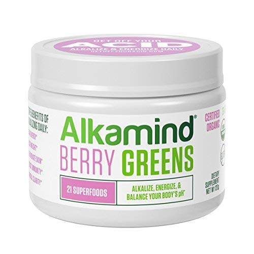 Alkamind Daily Greens - Berry - GET Off Your Acid with 21 Superfoods to Alkalize & Energize & Balance pH