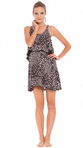 (Olian The Jane Leopard Print Maternity/Nursing Nightgown)