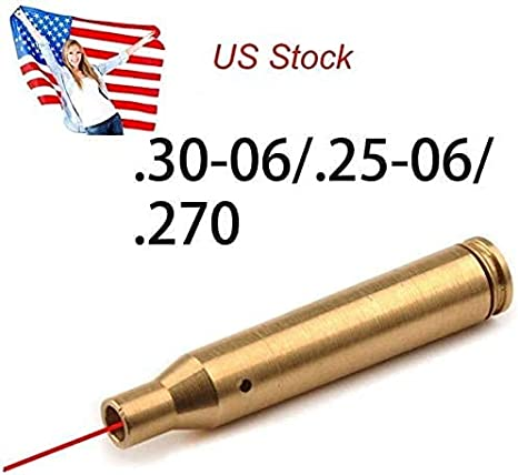 Details about  /30-06//25-06//270 Brassy Red Laser Cartridge Boresighter For Tactical Hunting US