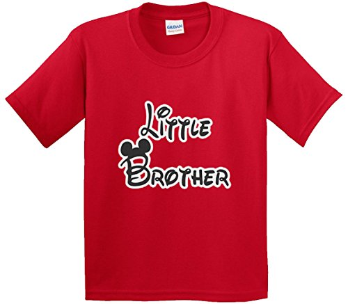 Brother Youth T-shirt (New Way 552 - Youth T-Shirt Little Brother Mickey Mouse Ears Small Red)