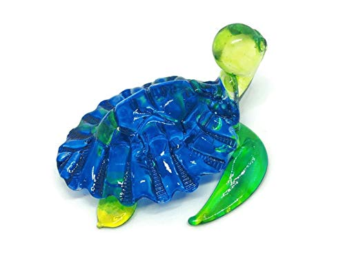 zz0022 N0052 Dollhouse Miniatures,Turtle Art Glass Blown,by Audomna Shop. Hand Blown Art Glass,Sea Turtle Miniature Animals Collection