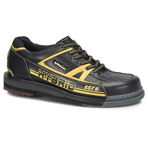 - Dexter Mens SST 6 Hybrid Bowling Shoes Right Hand Wide- 10, Black/Gold, 10W