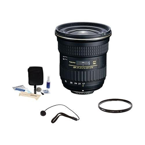 Tokina 17mm-35mm F/4 AT-X Pro FX Lens for EOS w/82mm UV Filter+Cleaning Kit+
