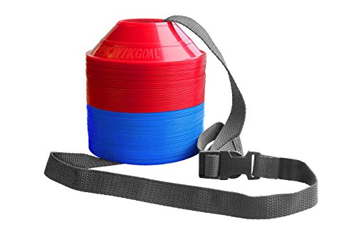 Kwik Goal Mini Disc Cone Kit (50-Pack), Blue/Red - Kwik Kit
