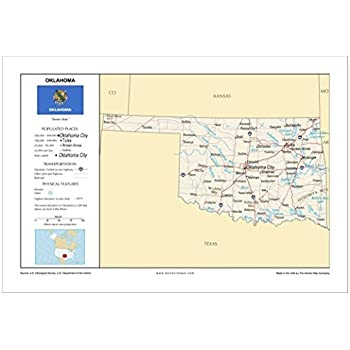 Anchor Maps USA Foundational Series 13x19 Colorado General Reference Wall Map Roads Physical Features Cities and Topography ROLLED