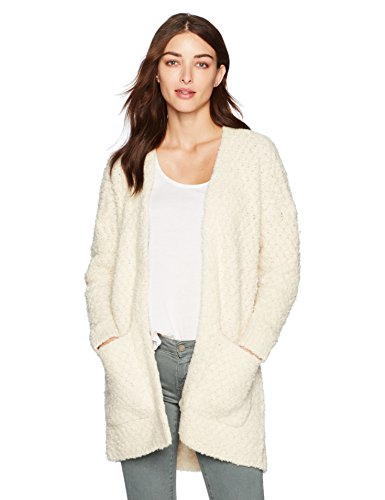 Lucky Brand Women's Finn Cardigan Sweater, Snow White, M by Lucky Brand
