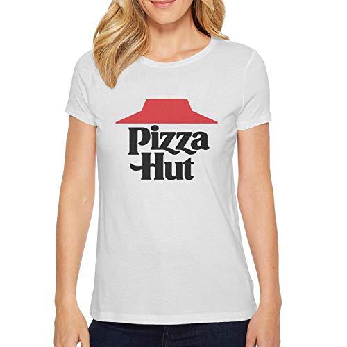 (uter ewjrt Beautiful Women Short Sleeve Adult t Shirts Pizza-Hut-Logo- Loose)
