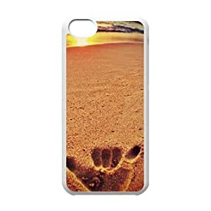 DIY Beach sunset Phone Case, DIY Cell Phone Case for iphone 5c with Beach sunset (Pattern-5)