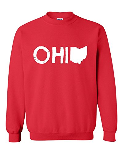 Ugo Ohio Map OH Ohio Cincinnati Map Bearcats Buckeyes Home of Ohio State Unisex Crewneck - Ohio Outlet Cincinnati Stores