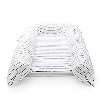 DockATot Grand Dock Lightweight for Easy Travel Suitable from 9-36 Months - Perfect for Cuddling Lounging and Co Sleeping Charcoal Buffalo
