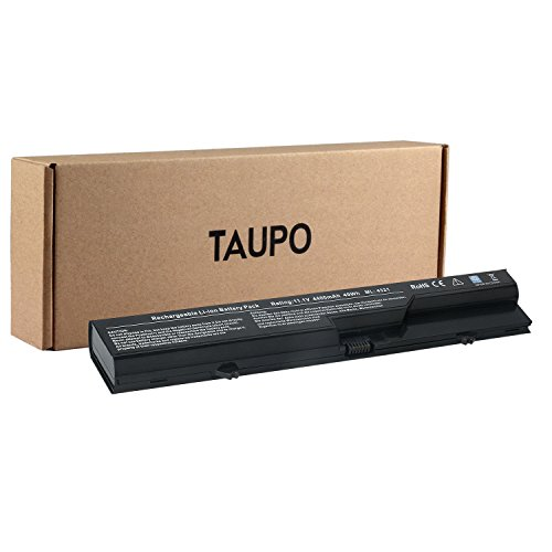 TAUPO New Laptop Battery Replacement for HP 620, Probook 4525S 4420s 4320 4320s 4320t 4321 4321s, fits PH06 PH09 593572-001 593573-001 [6-Cell, 11.1V] - 12 Months ()