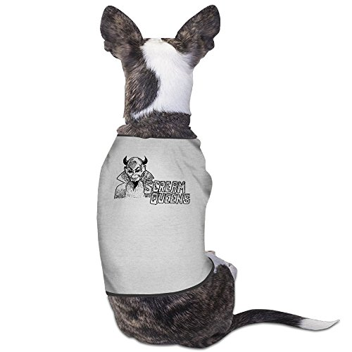 Scream Queens Gray 100% Fleece Best Dog Clothes Vest Cute Jackets Costumes ()