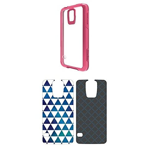 OtterBox Symmetry Samsung Galaxy S5 Sorbet Crystal Case w/ 2pk Graphic Insert - Sky Triangle and Chainlink (Otterbox Samsung Galaxy S5 Skin)