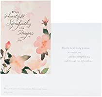 Watercolor Flowers Inspirational Boxed Cards Sympathy
