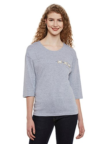 Miss Chase Womens Maroon Basic Top