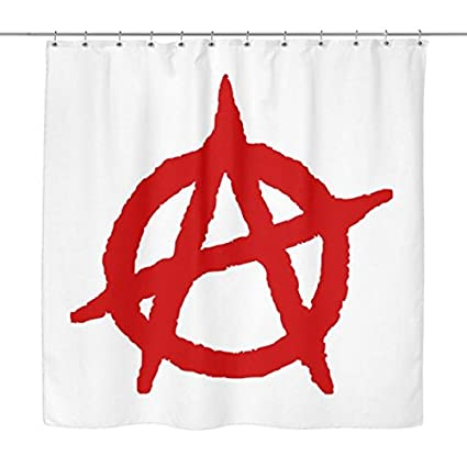Amazon Punk Rock Shower Curtain With Giant Red Anarchy Symbol