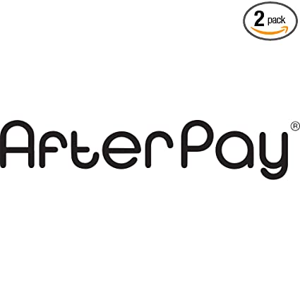 Amazon com: NBFU DECALS AFTERPAY 1 (Black) (Set of 2