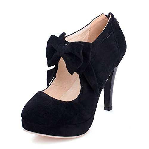 Sexy High Heeled - MORNISN Fashion Classic Platform Pumps for Women with Bowties Sexy High Heeled Back Zipper Shoes